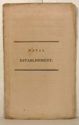Naval Establishment, pay of commissioned and warrant officers, 1802