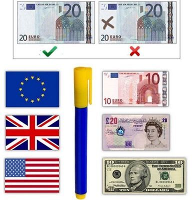 Money Tester Pen Counterfeit Forged Bank Note Checking Detector Pens  UK Seller