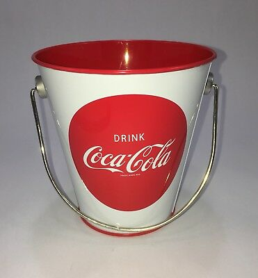 "Mini Coca-Cola Pail Coke Bucket with Handle - 4.5"" Tall"