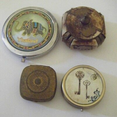 Collection of Metal Trinket /jewellery/pill containers