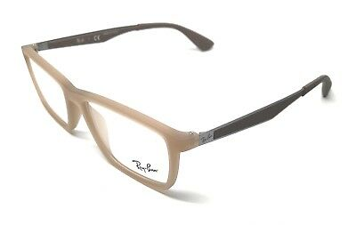 85abef5bfd RAY-BAN RB7056 5646 53 17 New BEIGE Authentic MEN Women EYEGLASSES ...