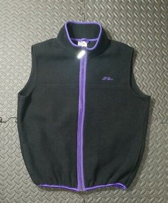 Vintage LL Bean Vest Fleece Kids Boys SZ XL Black Purple