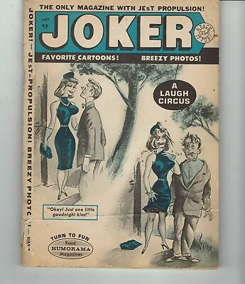 Joker May 1967 8 Pages Of Bill Ward!!  Girlie Pinup Vg/fine Nice