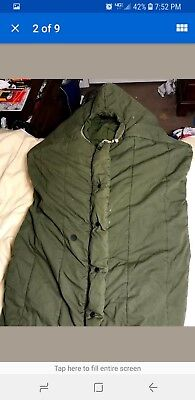 """vintage US MILITARY """"MUMMY"""" SLEEPING BAG (INTERMEDIATE COLD WEATHER) ARMY GREEN"""