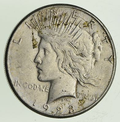 Early 1923-S Peace Silver Dollar - 90% US Coin *254