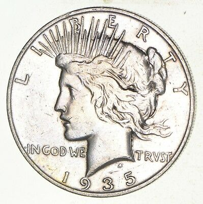 Early - 1935-S - Peace Silver Dollar - 90% US Coin *042