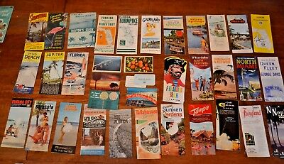 Huge Lot of Vintage 1960s Florida Travel Brochures, Booklets & Postcards