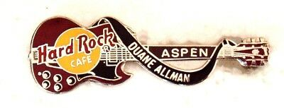 Hard Rock Cafe Aspen Duane Allman Dead Rocker Gibson Guitar Pin
