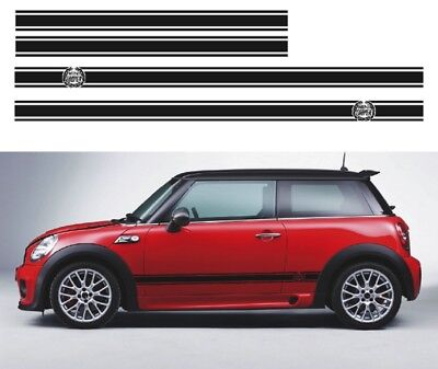 BMW MINI ONE JOHN COOPER WREATH SIDE STRIPE Bonnet GRAPHICS VINYL DECAL STICKER