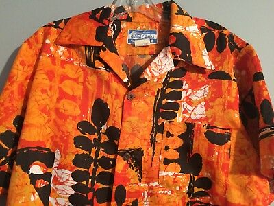 """Waltah Clarke's"" Made in Honolulu Hawaiian Shirt Vintage Mens Premiere"