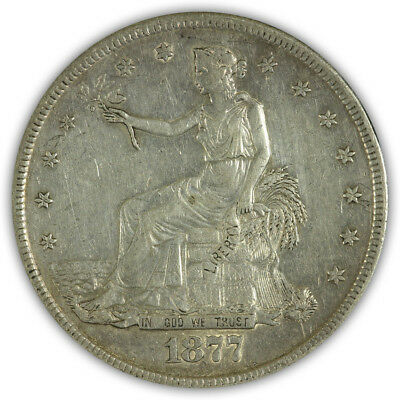 1877-S Trade Dollar. Almost Uncirculated.