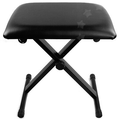 High Quality X Frame Adjustable Height Keyboard Bench Piano Stool Black AU Stock
