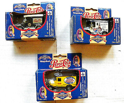 "(LOT of 3)  GOLDEN WHEEL ""PEPSI"" DIE-CAST METAL VINTAGE TRUCKS"