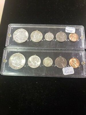 Two US 5 Coin Mint Sets, 1958 and 1959