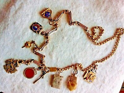Watch Chains & Fobs Necklace, Antique, Nice, Unusual, Large Fobs & Large chains