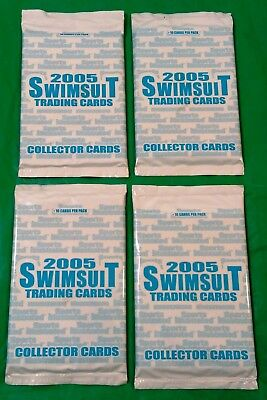 4X 2005 Sports Illustrated Swimsuit Trading Card Sealed Packs