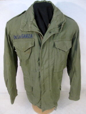 post-Vietnam US Army M65 OG-107 Combat Field Coat Jacket - Size Sm/Reg - 1976