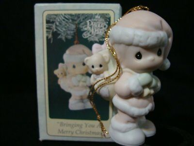 Precious Moments Ornaments-Boy Santa-Suspended-Bringing You A Merry Christmas