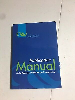 Publication Manual of the American Psychological Association (6th Edition)