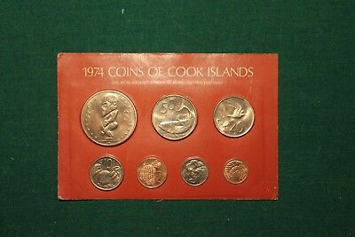 "1974 Cook Islands Uncirculated Mint Set with ""Blushing Queen"" Dollar!!!"