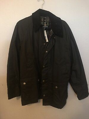 NWT Men's Barbour Ashby Jacket - Size Medium- Olive - MSRP $399