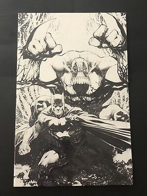 Batman Maxx #1 Jim Lee B/W Sketch NYCC Variant! DC IDW Sam Kieth NM