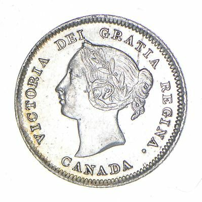 1880 Canada 5 Cents - Historic World Coin *047