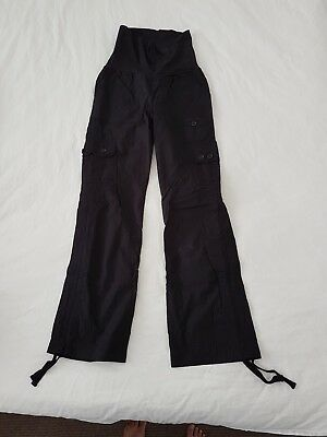 NEVER WORN! Pea In A Pod Maternity Cargo Pants Black Size 6 (or a small 8)