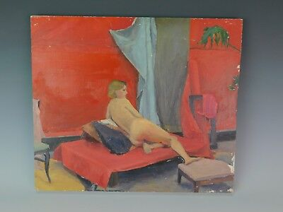 Kathy Moss Expressionist Nude Woman Oil Portrait Art Painting