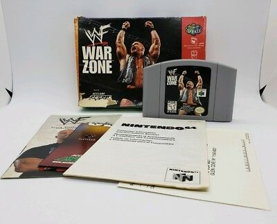 WWF Warzone Nintendo 64 N64 with Box and Manuals