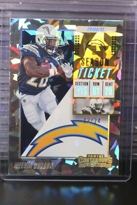 2018 Contenders Melvin Gordon Cracked Ice Parallel #13/24 Chargers DS
