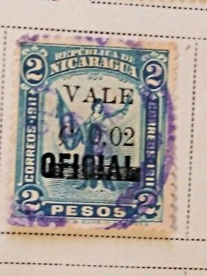 Nicaragua stamps   2 pesos  OVP  oficial/Vale  2 ct   1914  LH