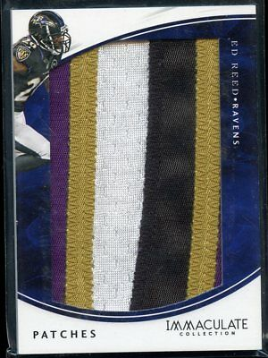 Ed Reed 2016 Immaculate Collection Jumbo Patch Jersey RAVENS 5/5