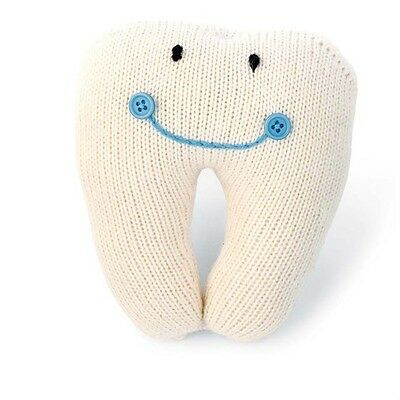 Mud-Pie Blue Knit Tooth Pillow