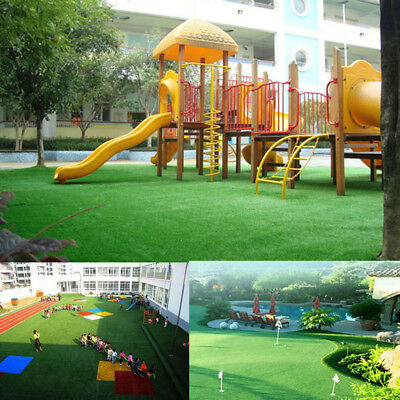 Artificial Grass Synthetic Turf Plastic Plant Fake Lawn Flooring School Supply