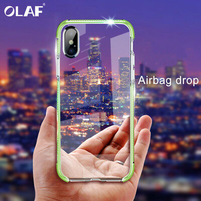 Ultra Thin Soft Silicone TPU ShockProof Transparent Case For iPhone X XR XS Max