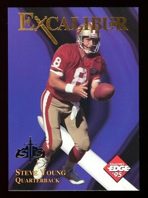 1995 Excalibur - STEVE YOUNG - S&S SILVER Redemption SP 22K KNIGHT Card #1 RARE!