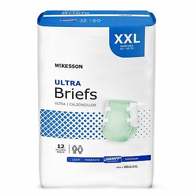 McKesson HEAVY Absorbency Adult Diaper Brief 2X-LARGE Contoured BRULXXL 48/Case