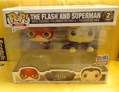 Funko Pop Heroes (DC Comics)! Flash & Superman (2 Pack) -2018 Fall Conv. Excl.-