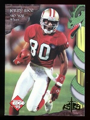 1995 Excalibur JERRY RICE - S&S GOLD DRAGON SLAYER - SP Redemption Card, SCARCE