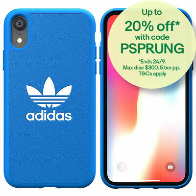 Adidas Original Basic Moulded TPU Case/Cover Protection for Apple iPhone XR Blue