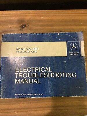 1981 model year mercedes benz electrical wiring diagram troubleshooting  manual