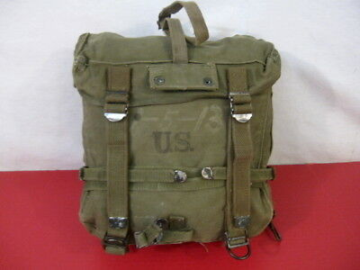 WWII Era US Army OD Green M1944 Upper Combat Field Pack - Dated 1944 - NICE