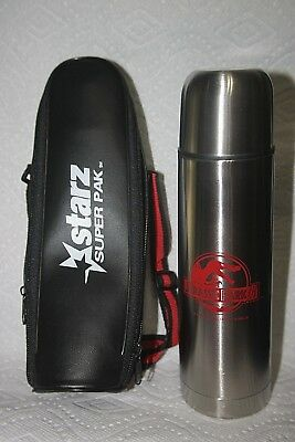 Jurassic Park Metal 2003 Thermos With Carrying Case With Handle - Not In Stores!