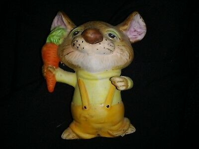 Porcelain Mouse With A Carrot Figurine