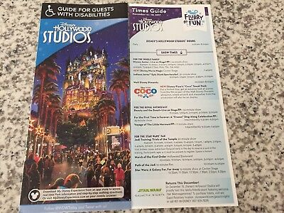 WDW Disney's Hollywood Studios Christmas Holiday Guide Map Guest With Disabiliti
