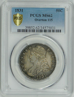 1831 Capped Bust Half Dollar MS 62 PCGS