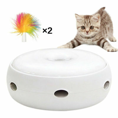 Electric Toy Pet Cat Smart Teaser Interactive Kitten Rotating Design Toy Kit Set