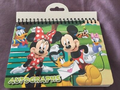Disney Mickey And Friends Autograph Book - New