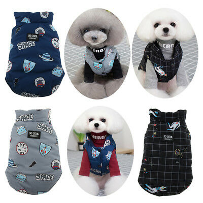 Reversible Small Dog Cold Weather Coats Outfit Waterproof Warm Cat Vest Jacket